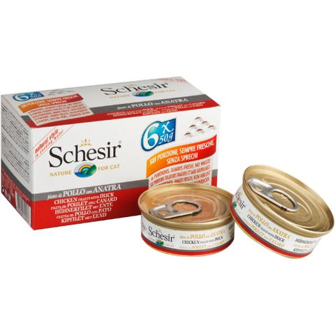 Schesir Chicken with Duck Multipack (6x50g)