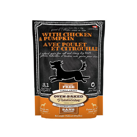 Oven-Baked Tradition Chicken & Pumpkin Dog Treats, 8oz