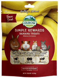 Oxbow Simple Rewards Banana Treats For Small Animals 30g