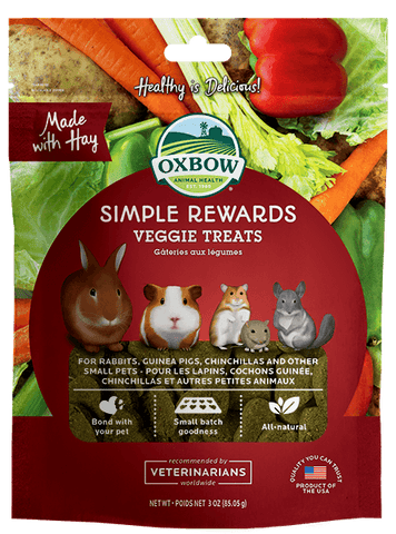Oxbow Simple Rewards Veggie Treats For Small Animals 60g