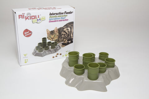 Aikiou Stimulo Cat Interactive Feeder (Green)