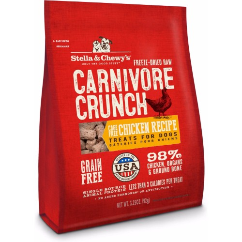 Stella & Chewy's Carnivore Crunch Chicken Freeze-Dried Dog Treats 3.25oz