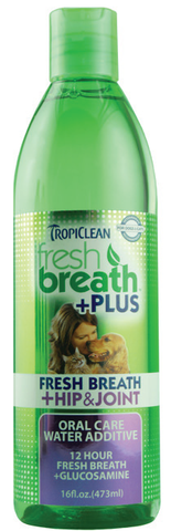 Tropiclean Fresh Breath Water Additive +plus Hip & Joint (16 o.z)