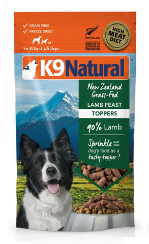K9 Natural Freeze Dried Lamb Feast Topper 5oz