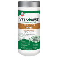 Vet's Best Flea and Tick Wipes for Dogs and Cats (50pcs)