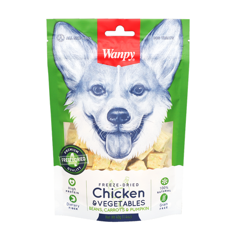 Wanpy Freeze Dried Chicken & Vegetables 40g