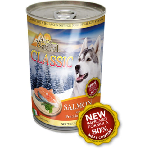 Alps Natural Classic Salmon Canned Dog Food 400g
