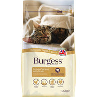 Burgess Chicken & Duck Adult Dry Cat Food 1.5kg