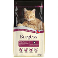 Burgess Turkey & Cranberry Mature Dry Cat Food 1.4kg