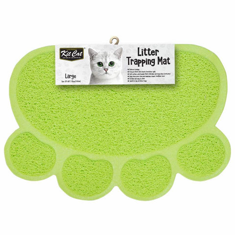 Kit Cat Litter Trapping Mat (Light Green)