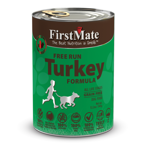 FirstMate Grain Free Free Run Turkey Formula Canned Dog Food 12.5oz