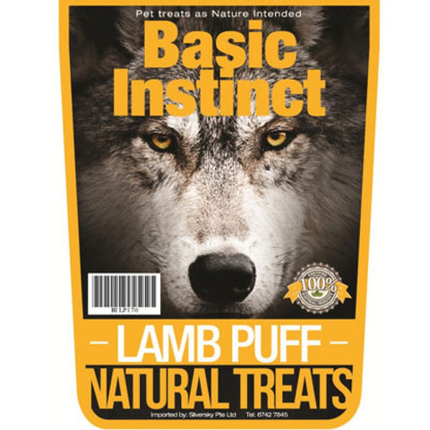 Basic Instinct Lamb Puff Natural Dog Treats 170g