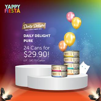 [YAPPY FIESTA] Daily Delight PURE: 24 cans for $29.90!