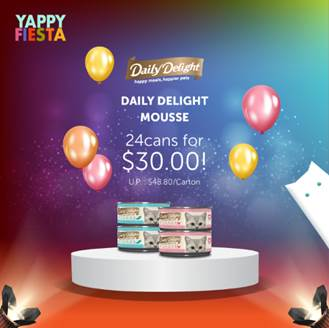 [YAPPY FIESTA] Daily Delight MOUSSE: 24 cans for $30.00!