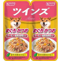 Inaba Tuna with Salmon & Vegetables Twin Pouch Dog Food 80g