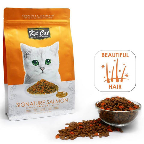 Kit Cat Signature Salmon Dry Cat Food 1.2kg