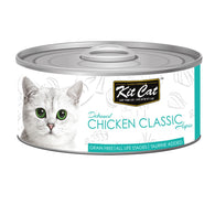 Kit Cat Grain-Free Deboned Chicken Classic Aspic Canned Cat Food 80g