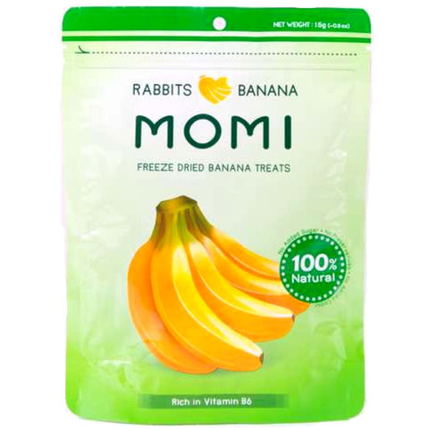 Momi Freeze Dried Banana Rabbit Treats 15g