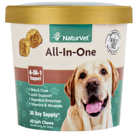 NaturVet All-In-One Soft Chew Cup 60 count