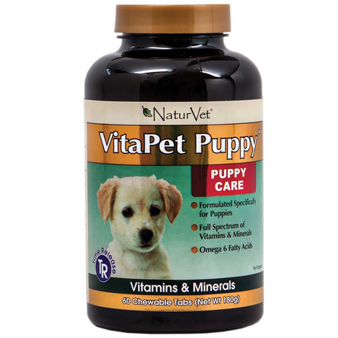 NaturVet Vitapet Puppy Time Release Daily Multi-Vitamin 60 tab