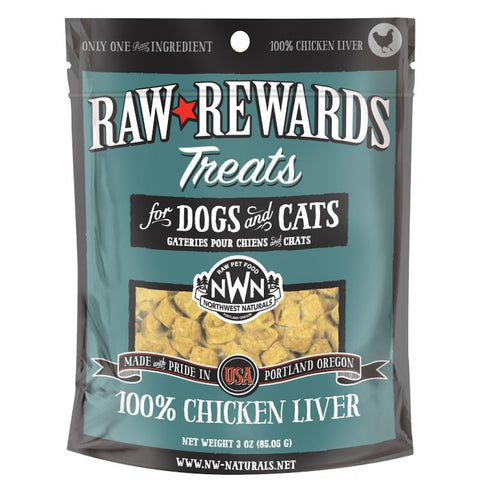 Northwest Naturals Raw Rewards Chicken Liver Dog & Cat Treat 3oz