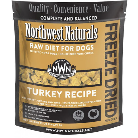 Northwest Naturals Turkey Freeze Dried Raw Diet For Dogs 12oz