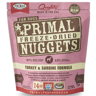 Primal Freeze Dried Canine Turkey And Sardine Nuggets