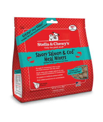 Stella & Chewy's Savory Salmon & Cod Meal Mixers Freeze-Dried Dog Food