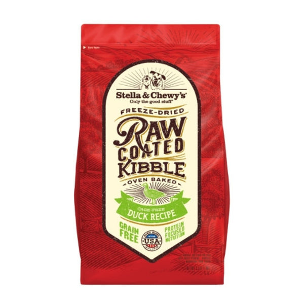 Stella & Chewy's Freeze-Dried Raw Coated Kibble Duck Dry Dog Food