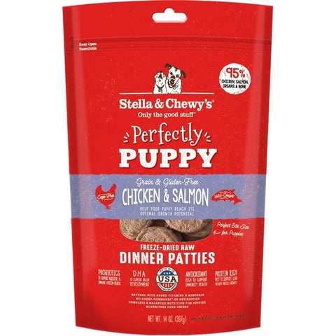 Stella & Chewy's Chicken & Salmon Puppy Dinner Patties Freeze-Dried Dog Food 14oz