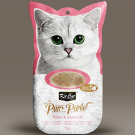 Kit Cat Purr Puree Cat Treat Series (60g) Tuna and Salmon