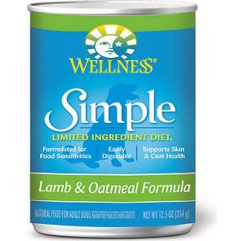 Wellness Simple Lamb & Oatmeal Canned Dog Food 354g