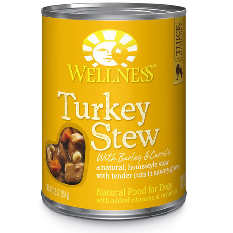 Wellness Homestyle Stew Turkey Stew with Barley & Carrots Canned Dog Food 354g