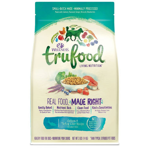 Wellness TruFood Baked Nuggets Grain-Free Salmon &Turkey Liver Adult Recipe Dry Dog Food