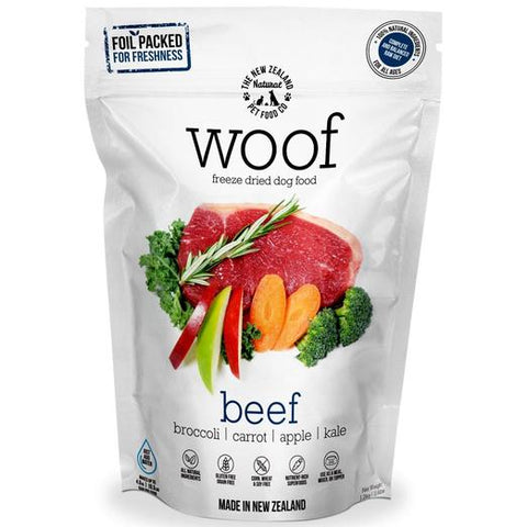 WOOF Beef Freeze Dried Raw Dog Food