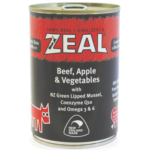 Zeal Beef, Apple & Vegetables Canned Dog Food 390g