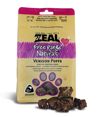 Zeal Free Range Naturals Venison Puffs Cat & Dog Treats (85g)