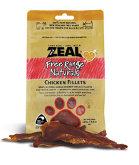 Zeal Free Range Naturals Chicken Fillets Cat & Dog Treats (125g)
