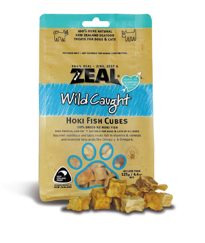 Zeal Free Range Naturals Hoki Fish Cubes Cat & Dog Treats (125g)