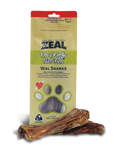 Zeal Free Range Naturals Veal Shanks Dog Treats (125g)