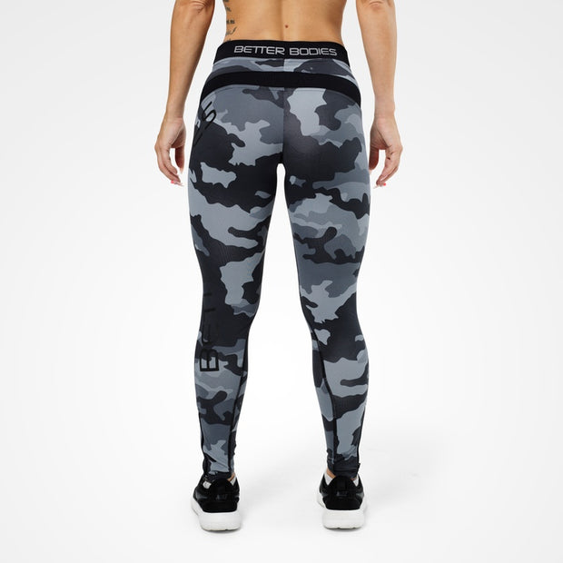 Better Bodies Camo Long Tights - Grey Camo