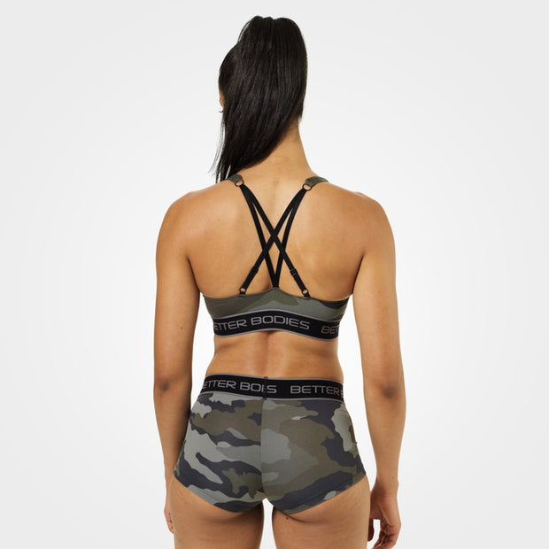 Better Bodies Athlete Short Top - Green Camo