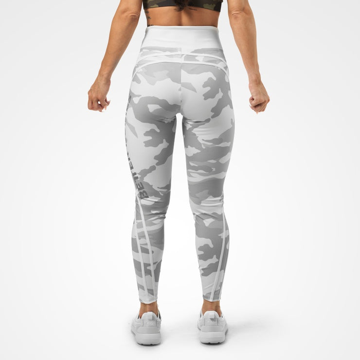 Better Bodies Camo High Tights - White Camo