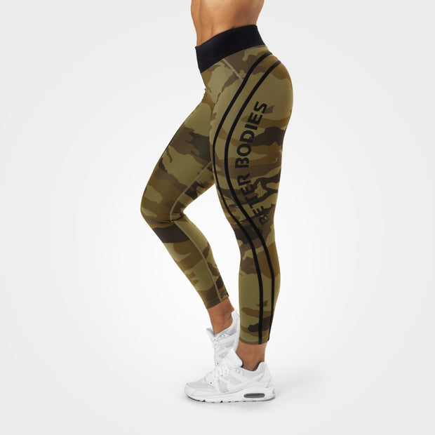Better Bodies Camo High Tights - Green Camo
