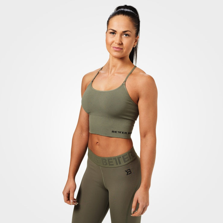 Better Bodies Astoria Seamless Bra - Wash Green