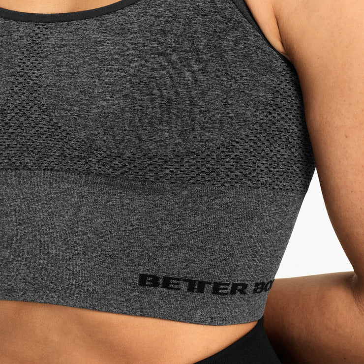 Better Bodies Astoria Seamless Bra - Graphite Melange