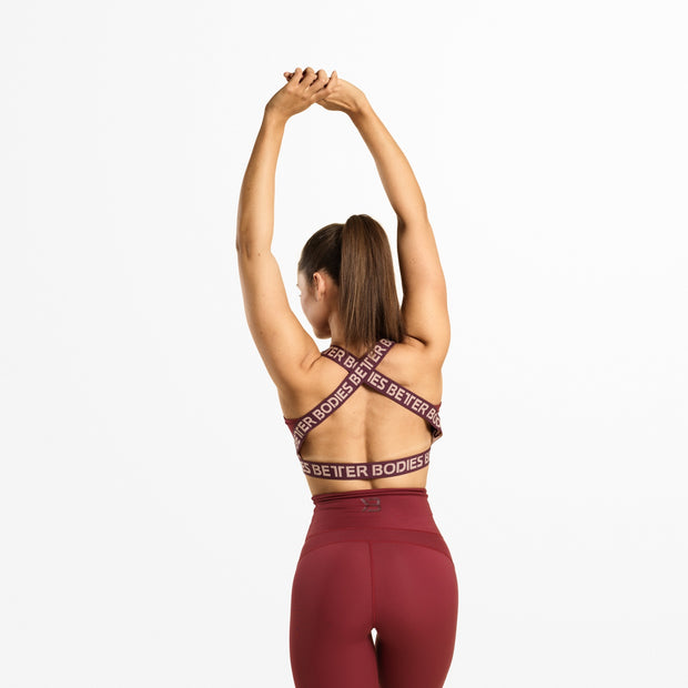 Better Bodies Waverly Elastic Bra - Sangria Red