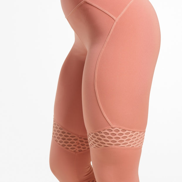 Better Bodies Waverly Mesh Tights - Rose Dawn