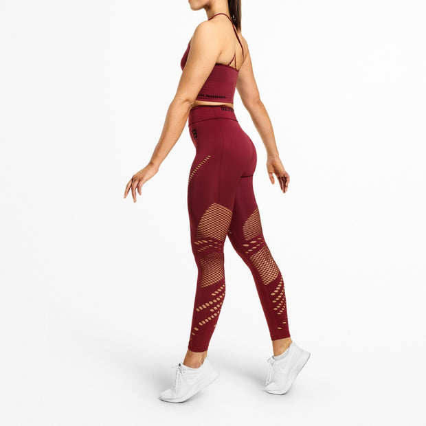 Better Bodies Waverly Tights - Sangria Red