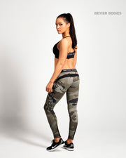 Better Bodies Camo Long Tights - Green Camo